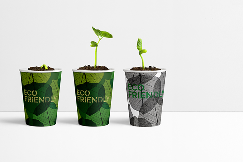Custom printed paper cups from biodegradable cardboard!