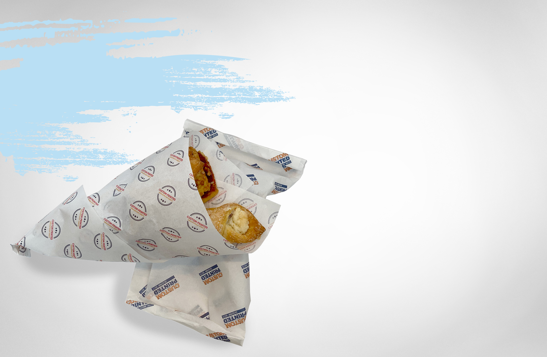 NEW! Custom printed greaseproof paper from 1000 pcs.