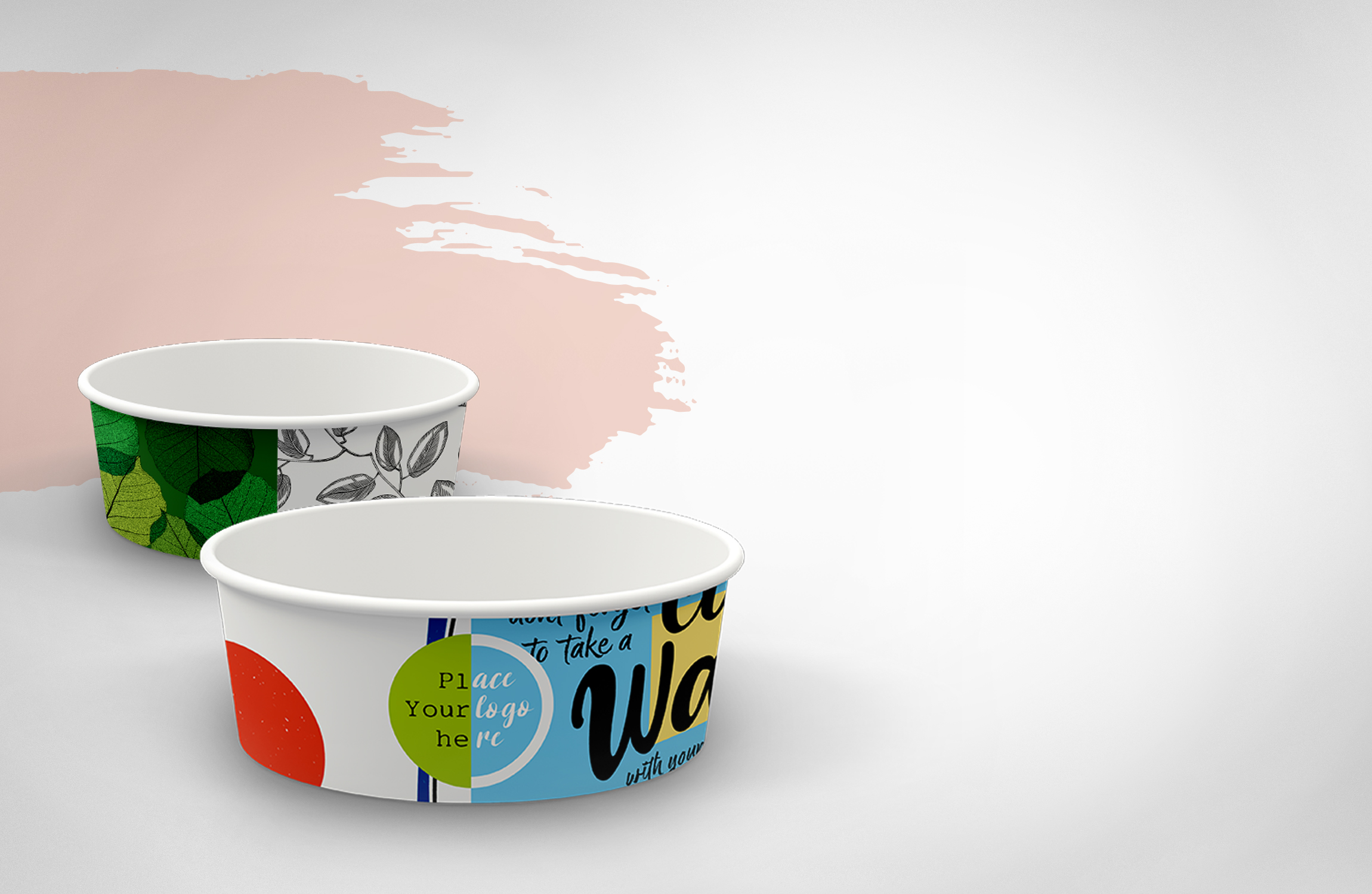 NEW! Salad bowls with custom design from 1080 pcs.