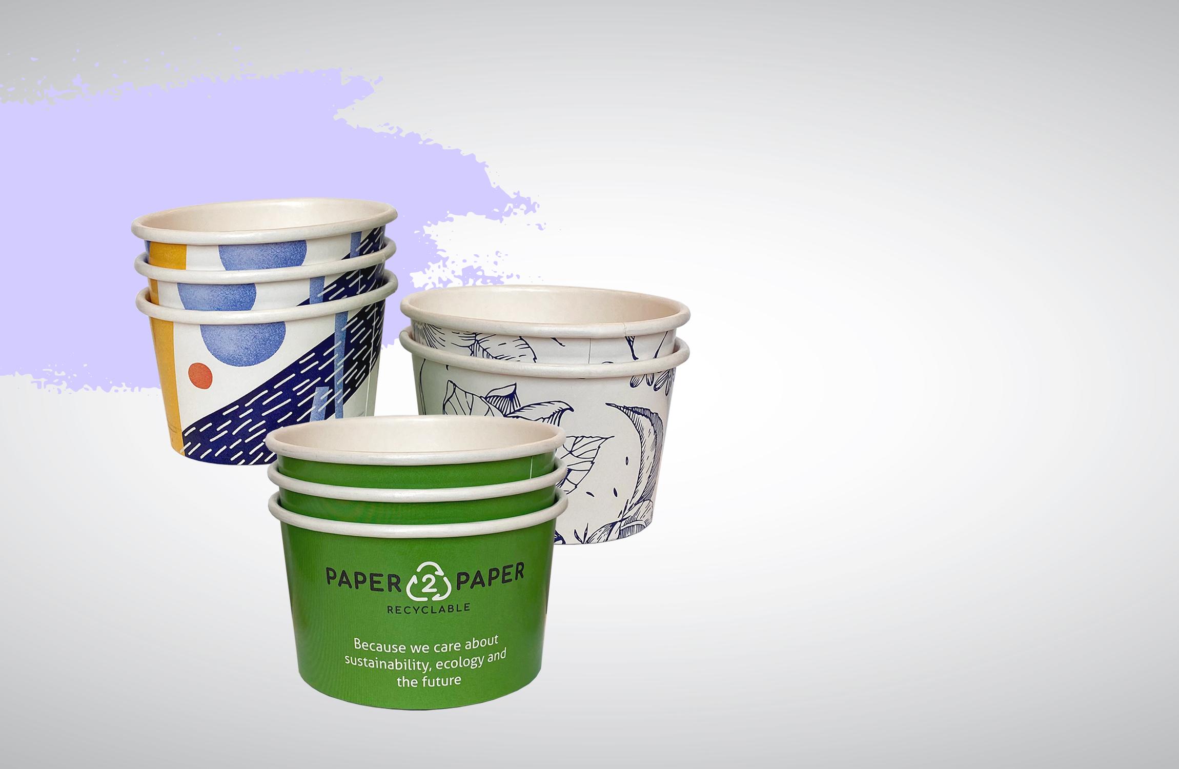 NAUJIENA! Popieriniai ledų indeliai su individualiu dizainu nuo 750 vnt.