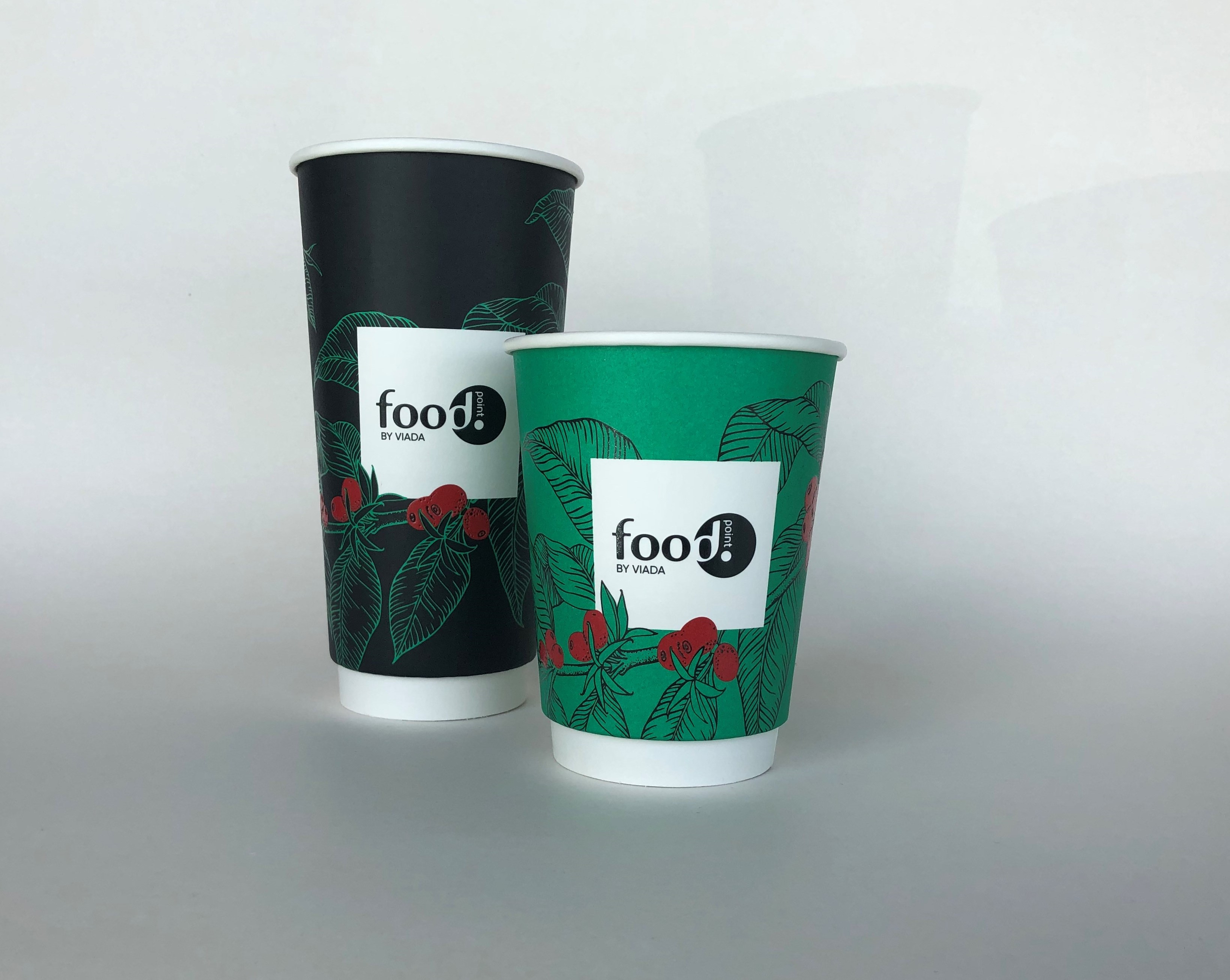 Green Black Paper Cup
