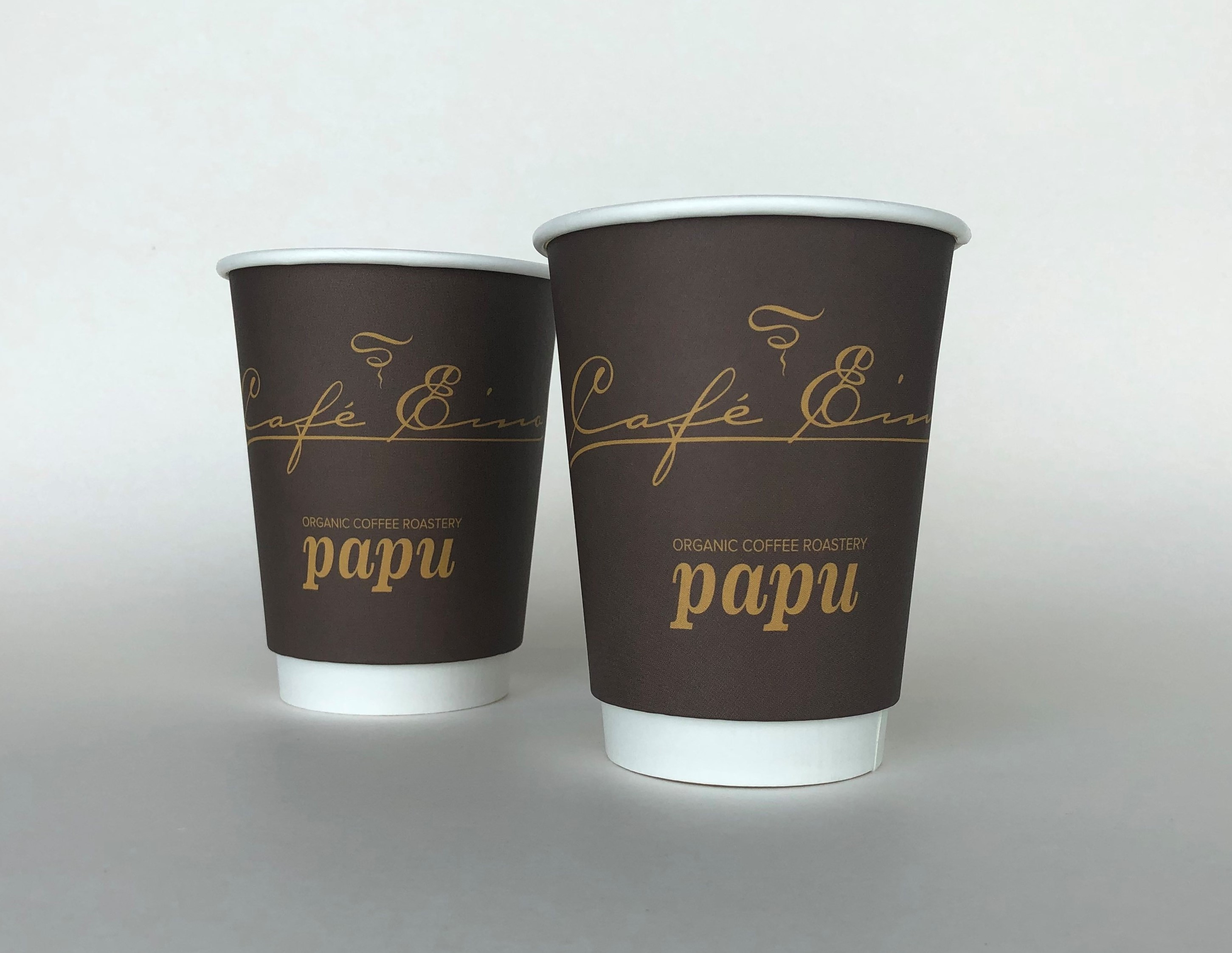 Brown Double Wall Cups