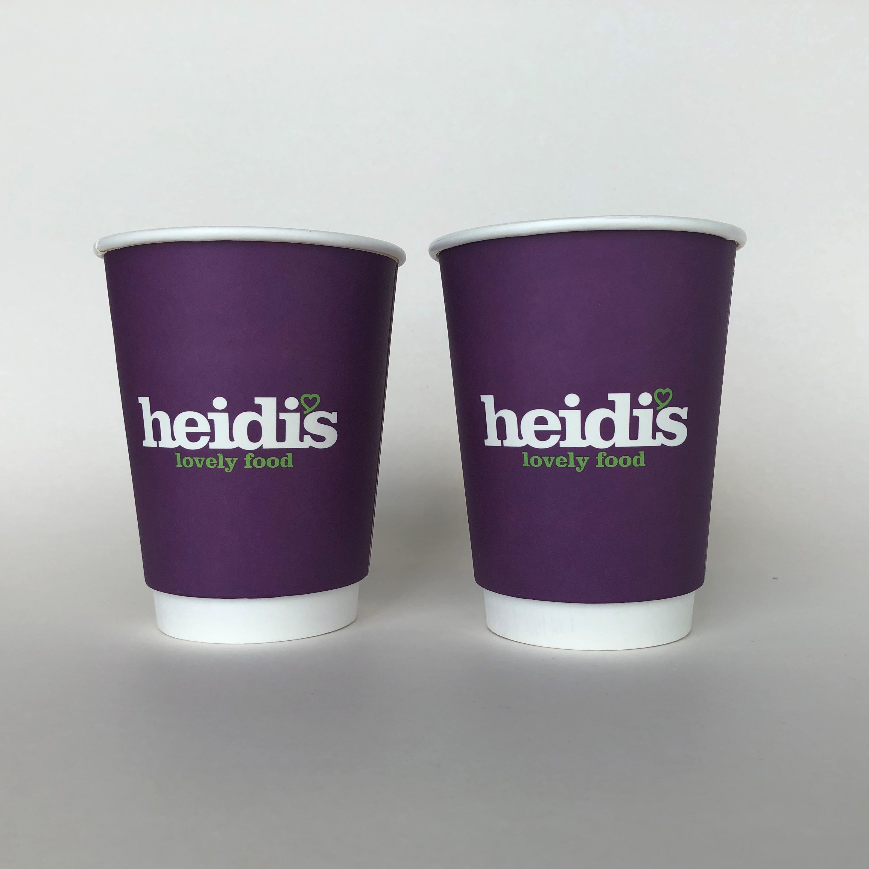 Purple Double Wall Paper Cups