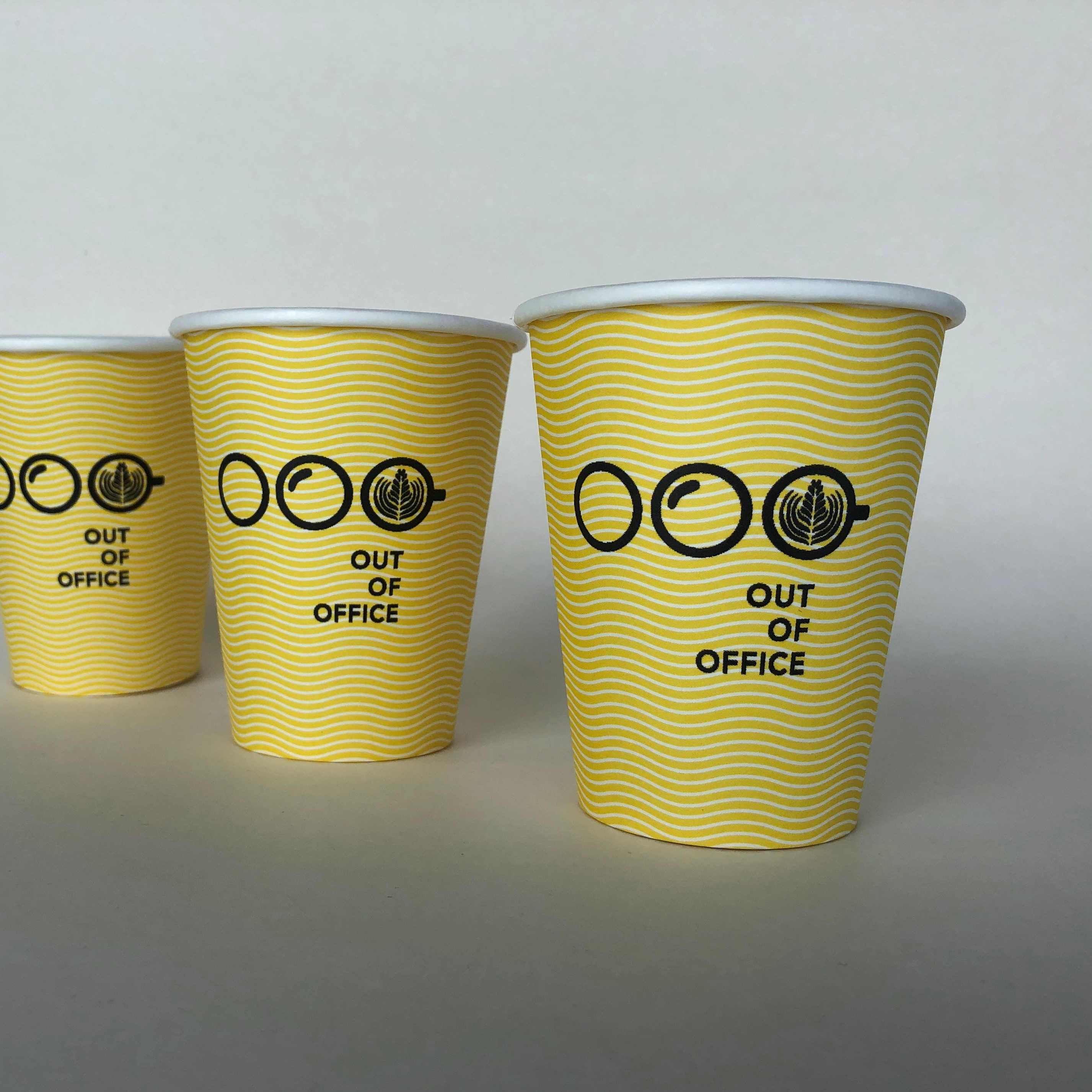 Yellow Single Wall Matt Cup
