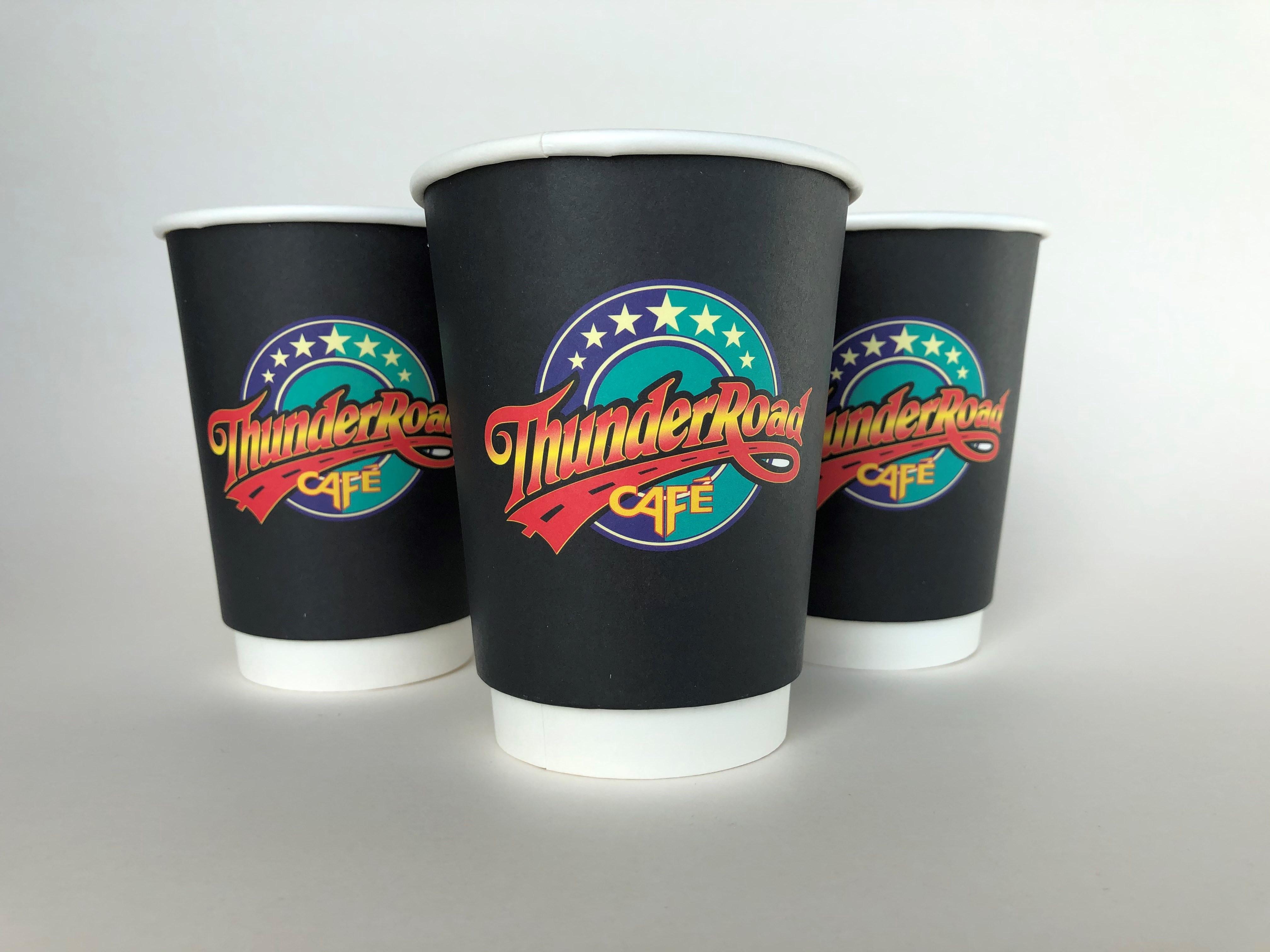 Black Custom Printed Cups