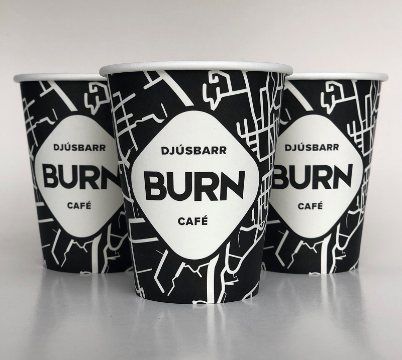 Black And White Custom Design Paper Cups