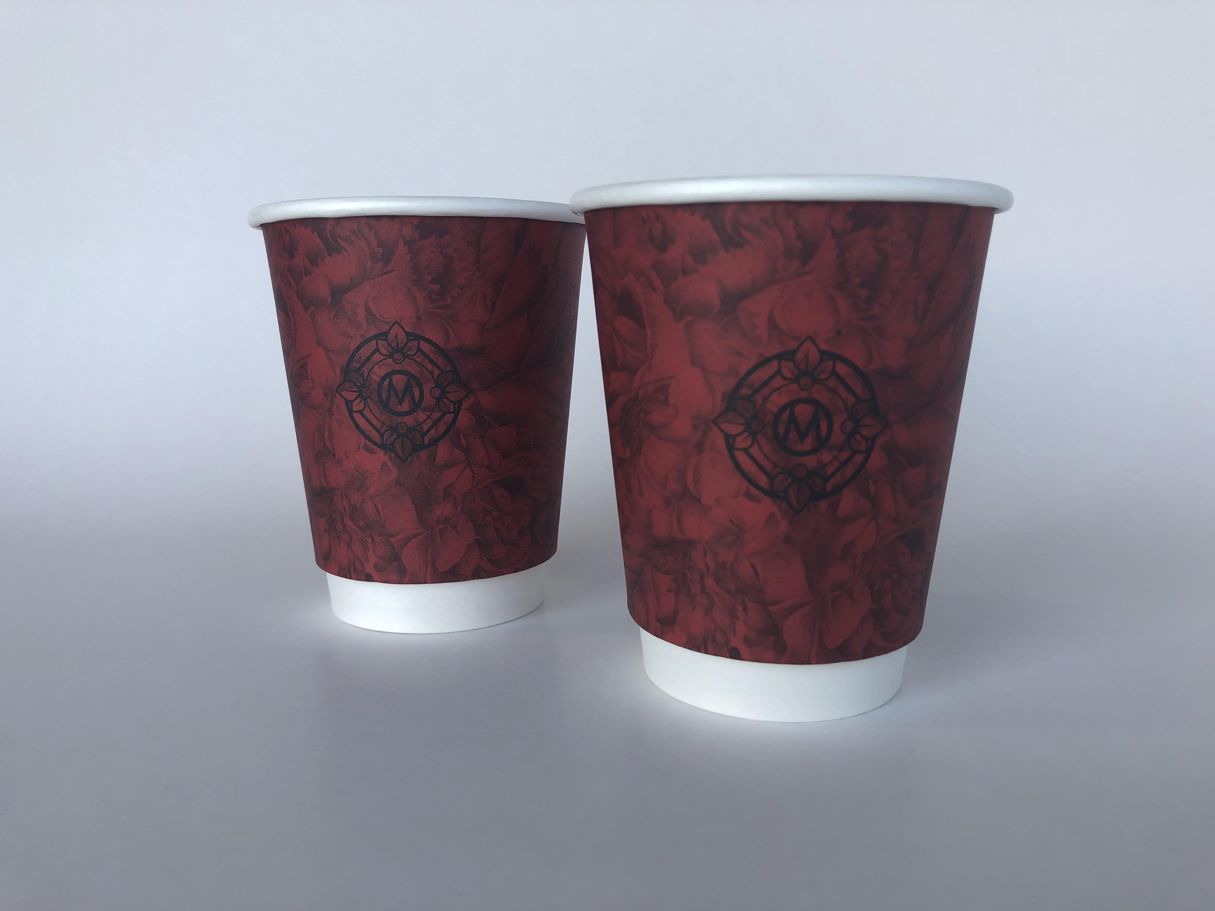 Red Custom Printed Paper Cups