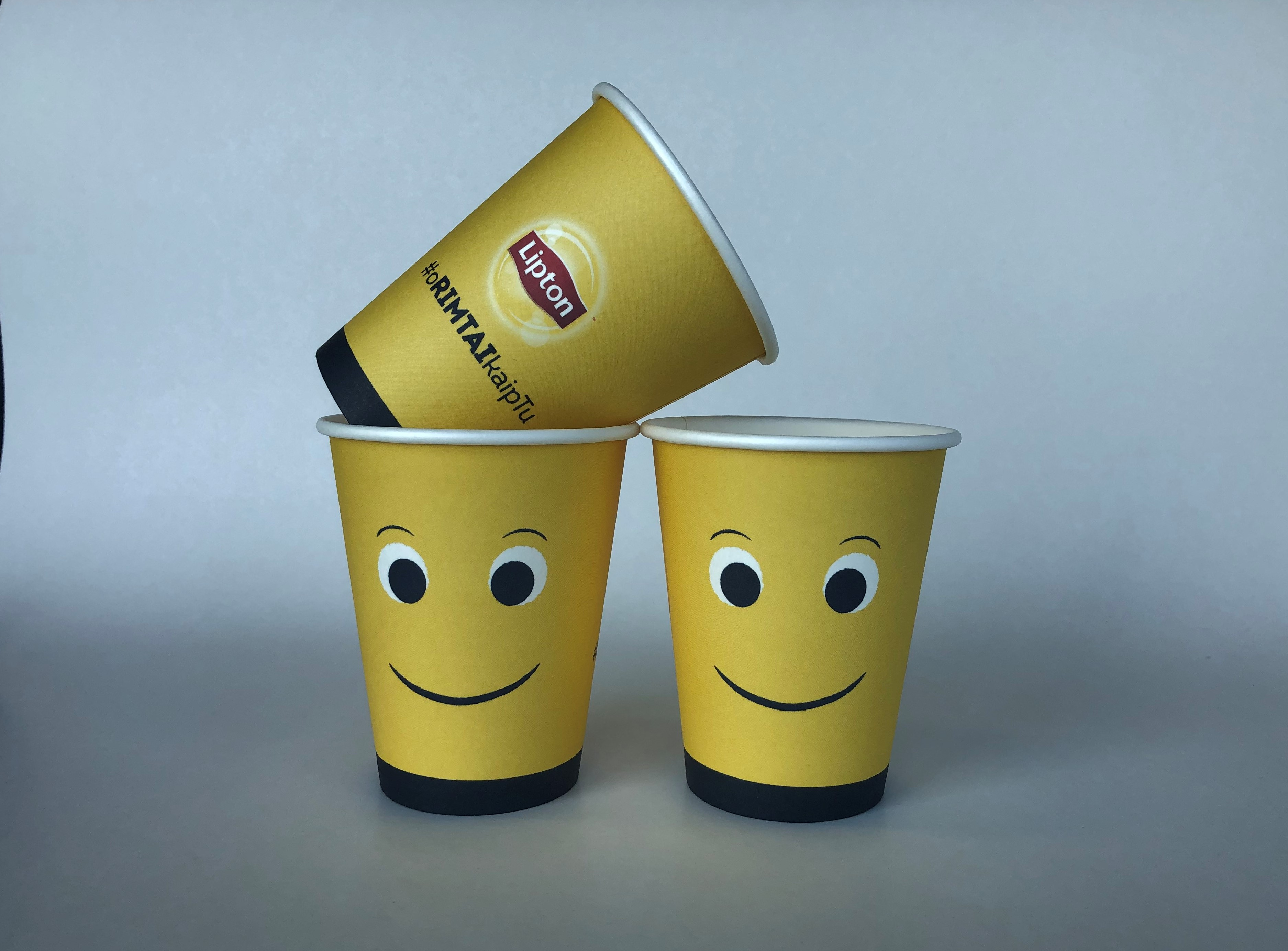 Single Wall Yellow Paper Cups