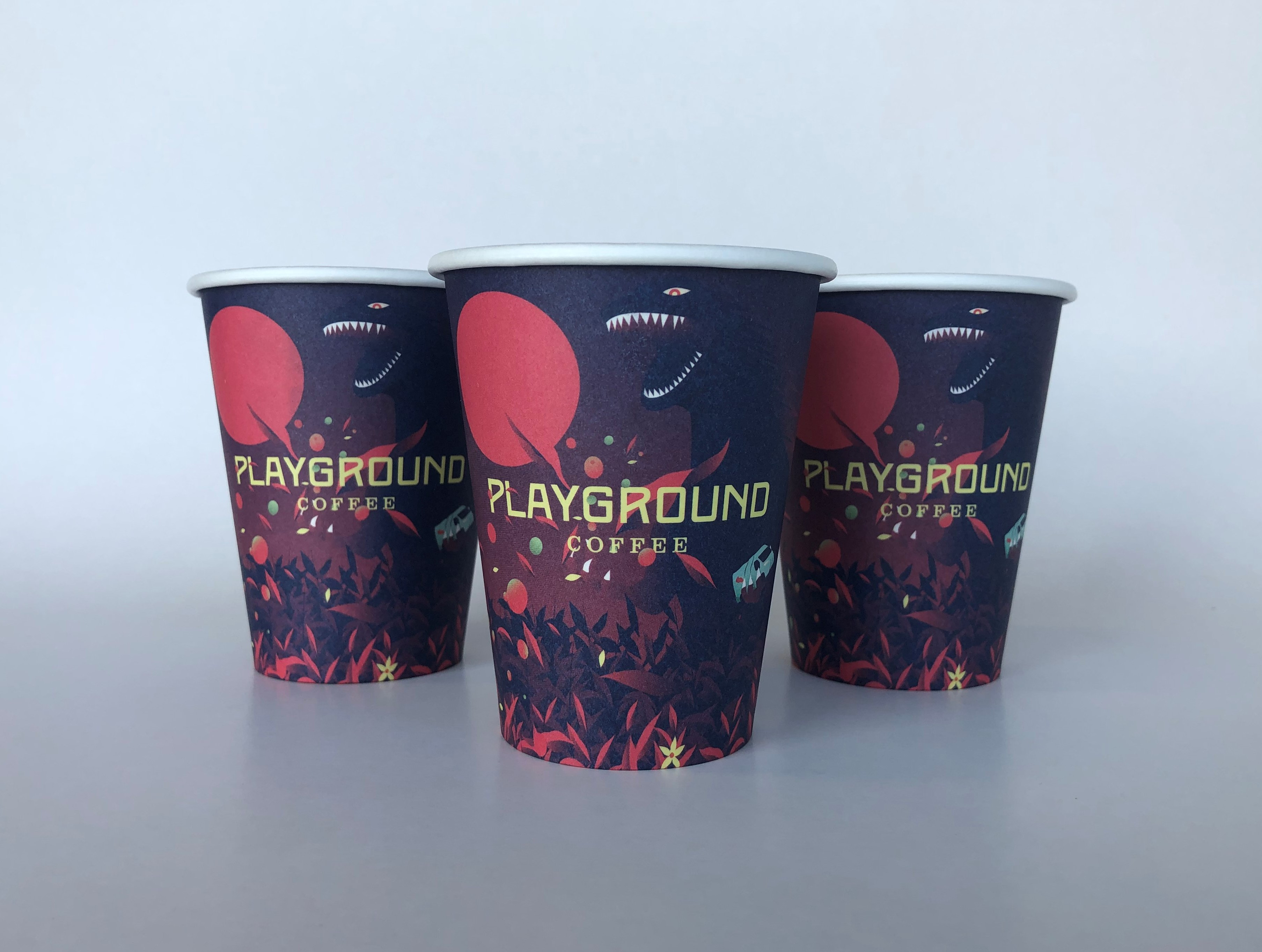Single Wall Paper Cups With Custom Design