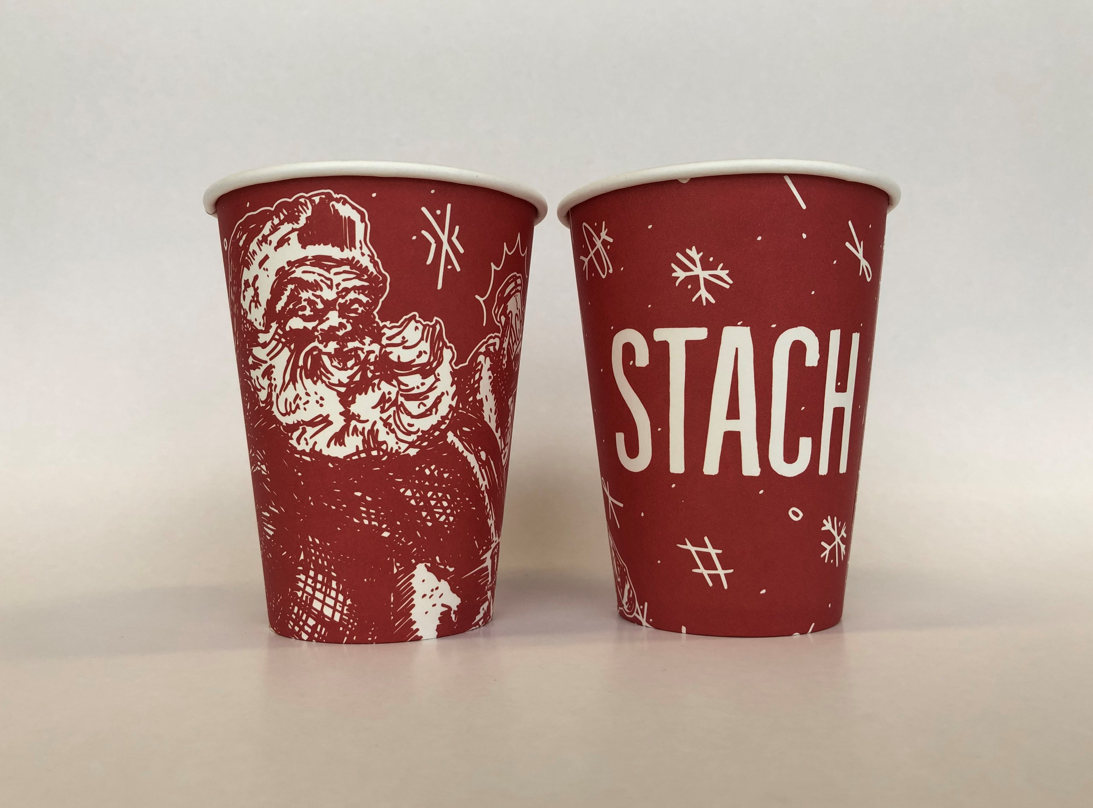 Red Holiday Paper Cups