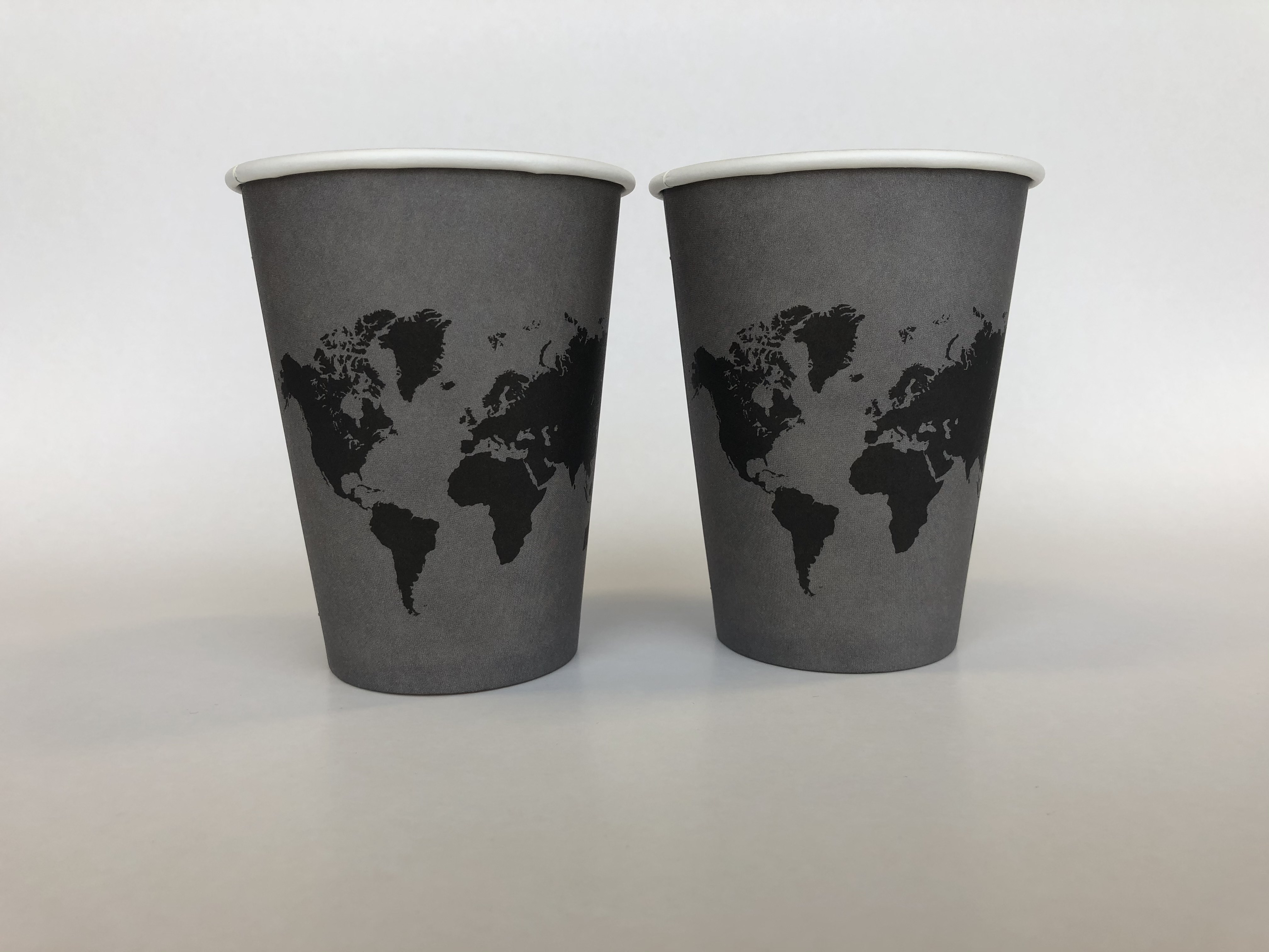 Single Wall Paper Cups With Map