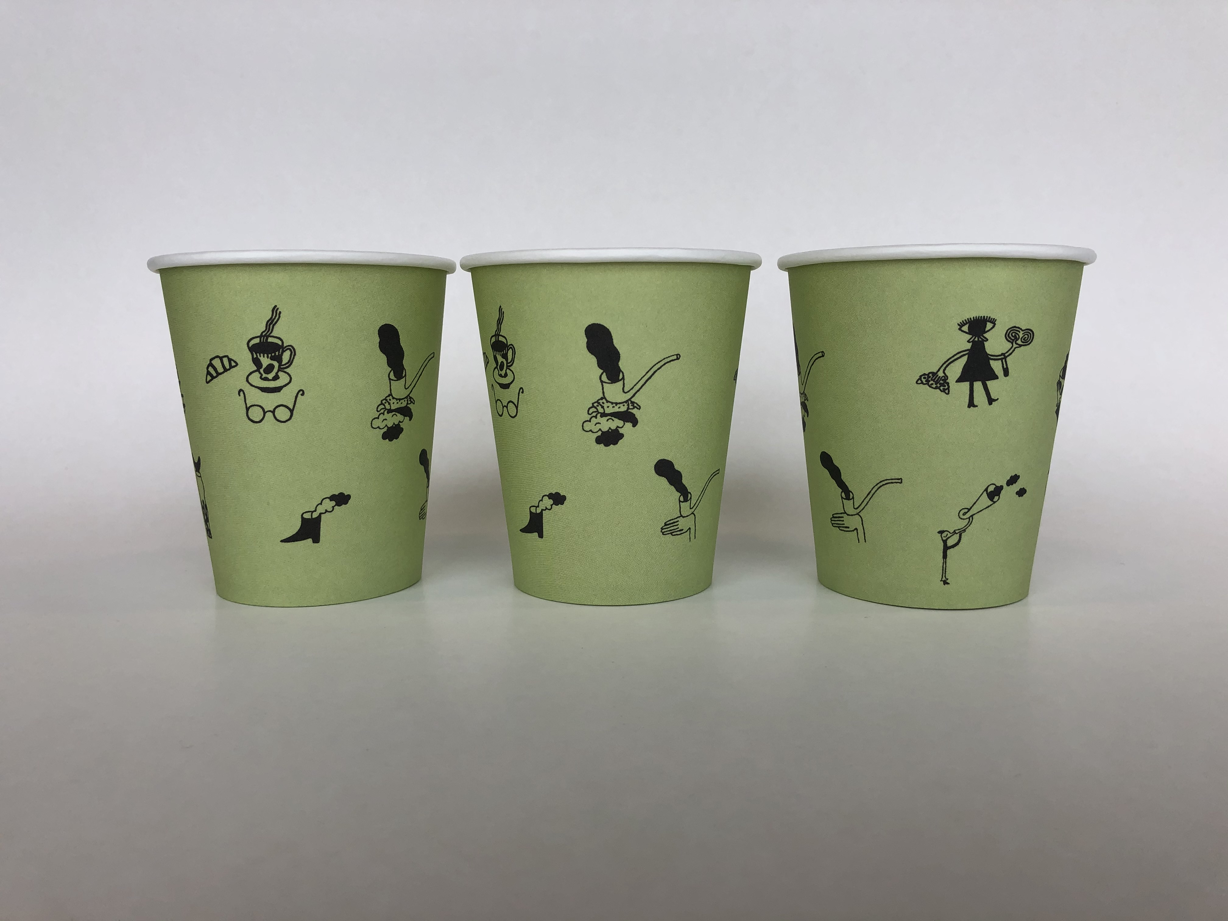 Green Single Wall Paper Cups