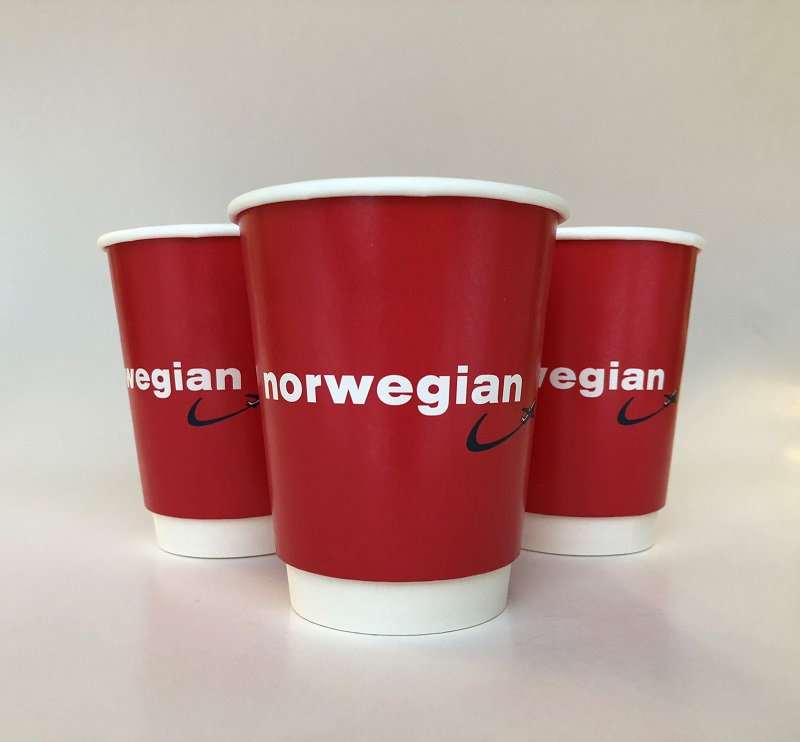 Red Double Wall Paper Cups