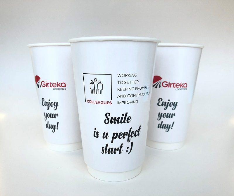 Double Wall Gloss Custom Design Paper Cup