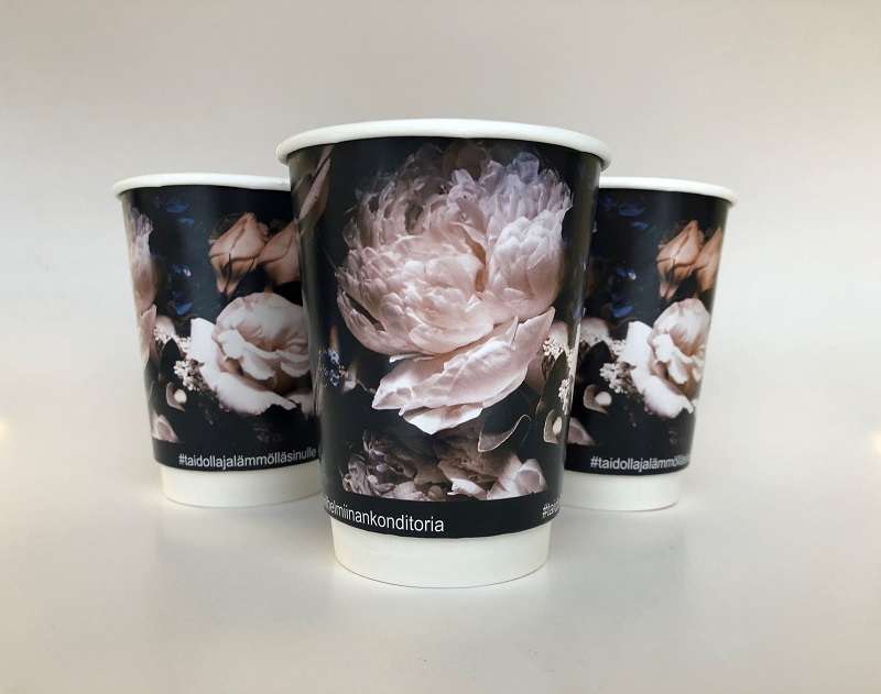 Double Wall Custom Design Paper Cup 8oz