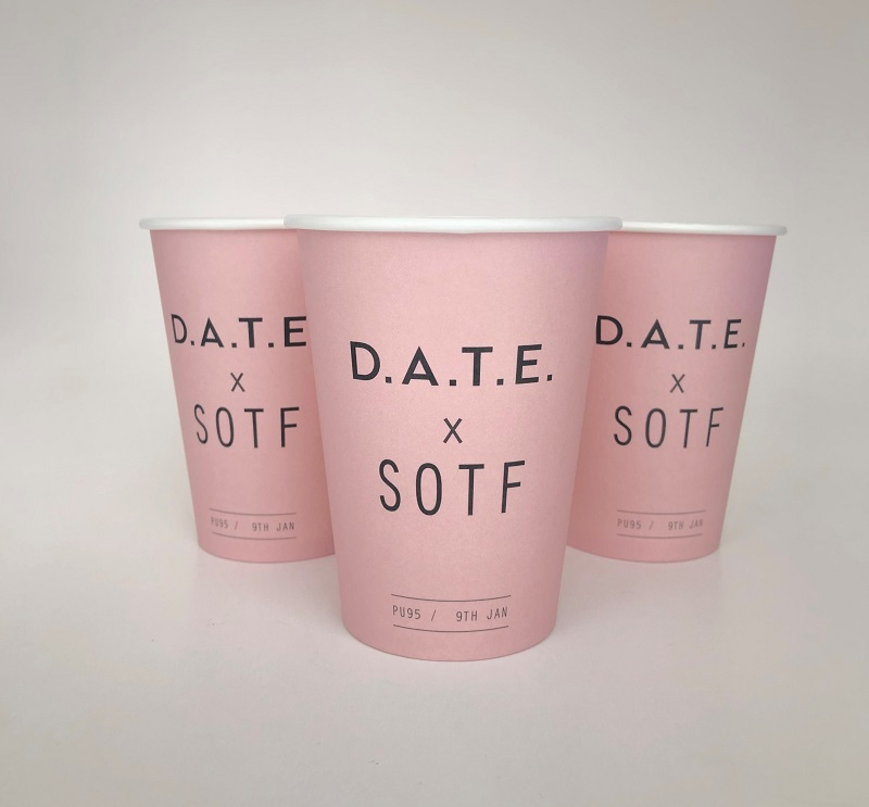 Pink Single Wall Paper Cups