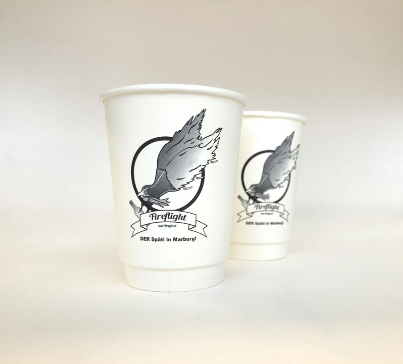 Double Wall Customized Printed Coffee Cup