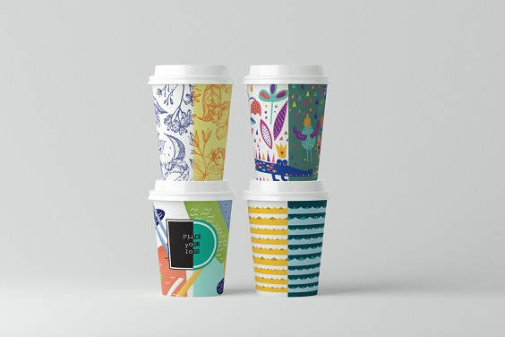 Business promotion with advertising on paper cups!